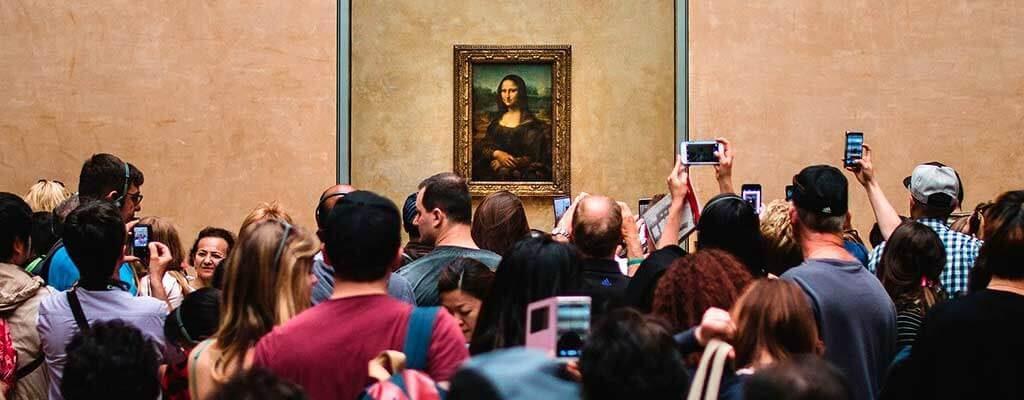 تابلوی مونالیزا در موزه لوور پاریس
