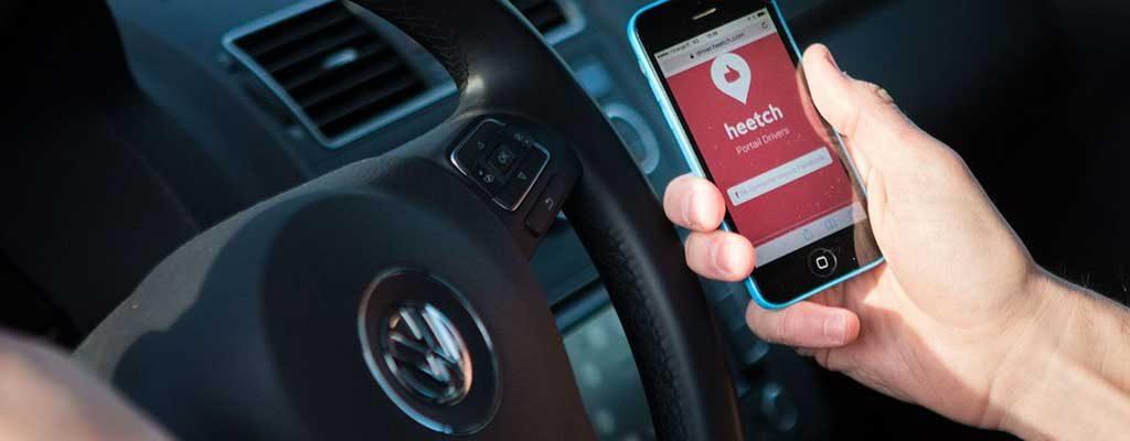 اپلیکیشن تاکسی اینترنتی Heetch