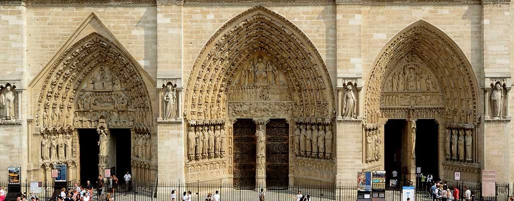 نمای غربی کلیسای جامع نوتردام پاریس