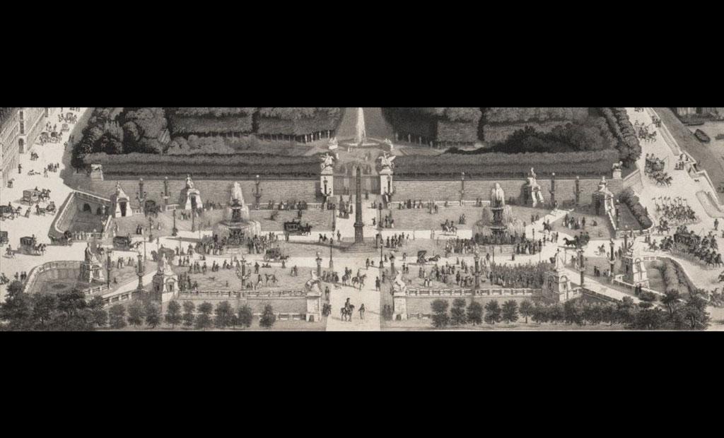 میدان کنکورد پاریس در قرن نوزدهم میلادی