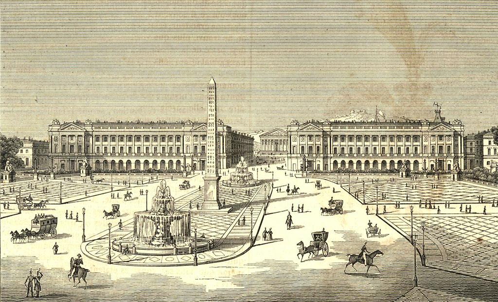 نقاشی از میدان کنکورد پاریس در قرن نوزدهم