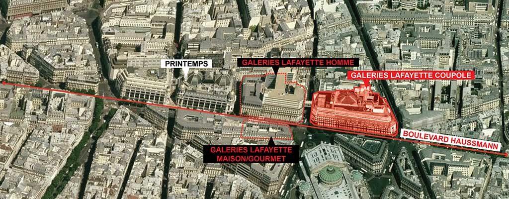 نقشه موقعیت گالری لافایت