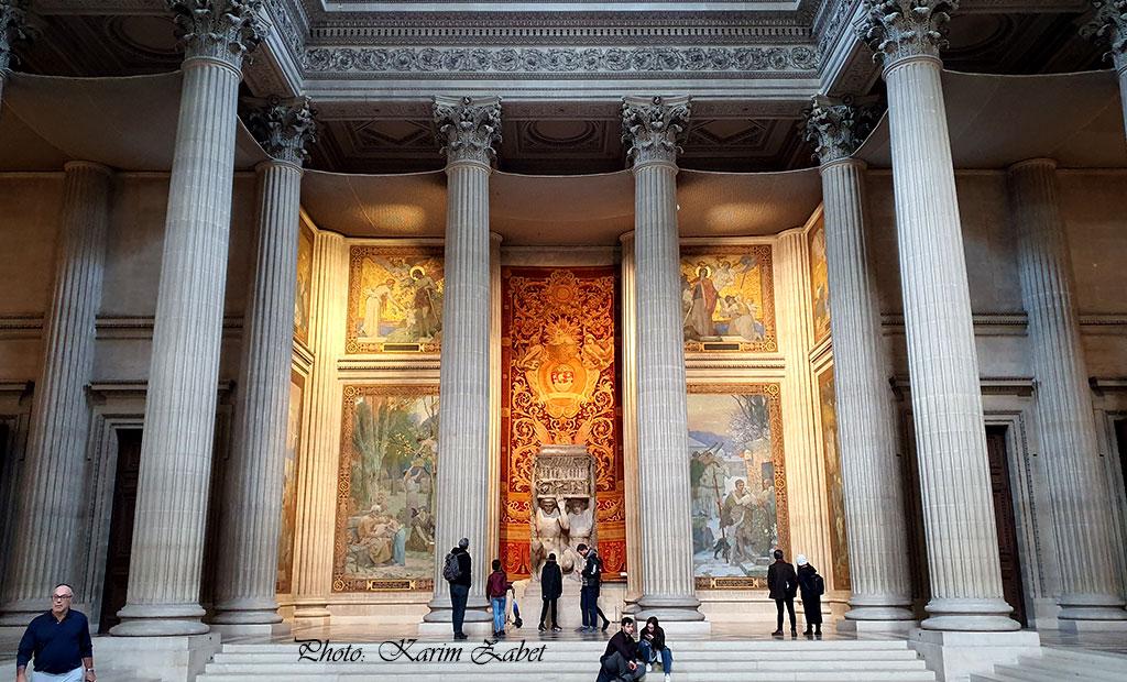 نمای داخل بنای پانتئون پاریس