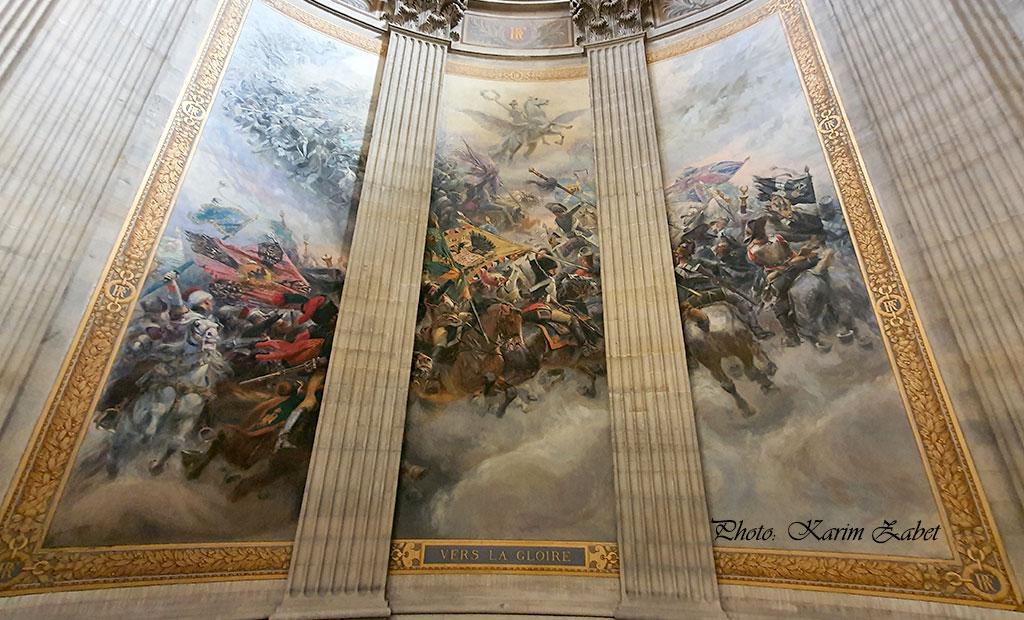 نقاشی های دیواری داخل پانتئون پاریس