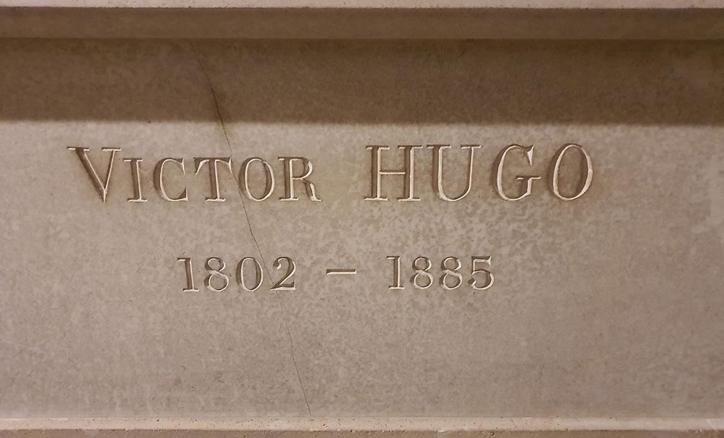 سنگ قبر ویکتور هوگو در پانتئون پاریس