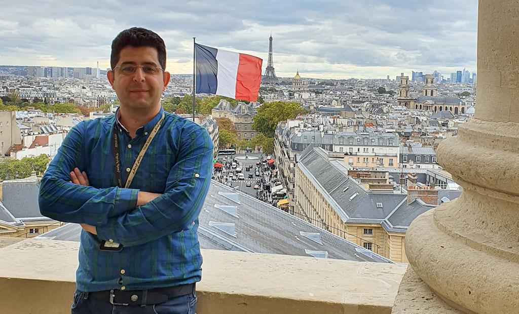 ویوی شهر پاریس از بالای گنبد پانتئون