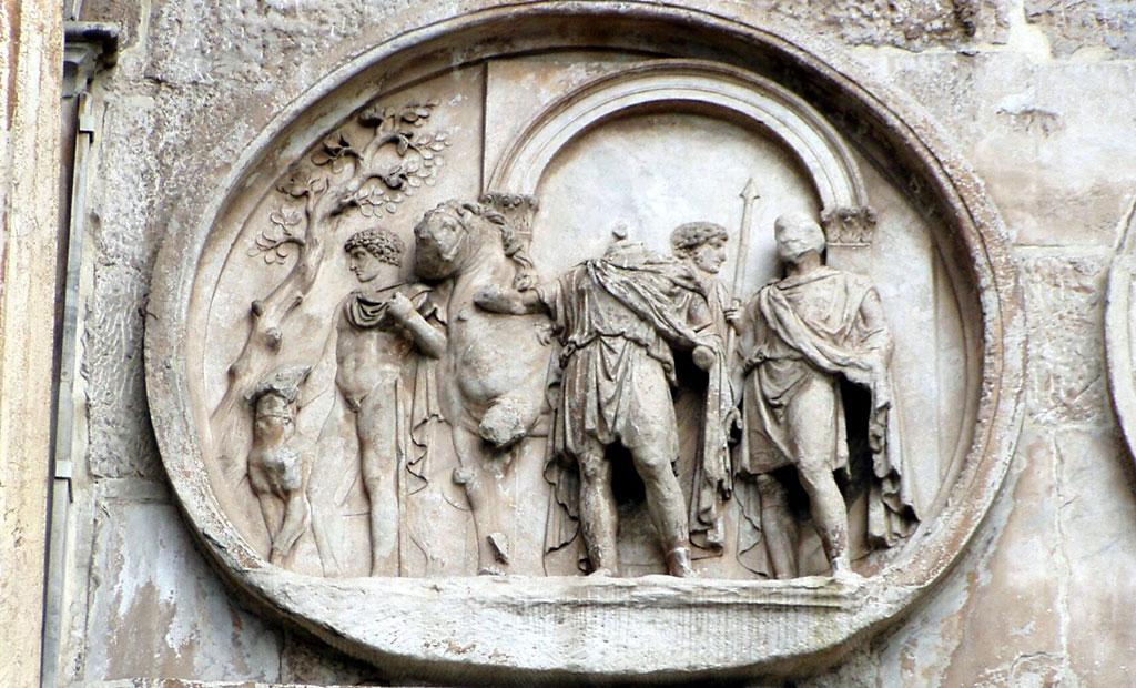 سنگ نگاره های دایره ای مربوط به زمان امپراتور هادریان