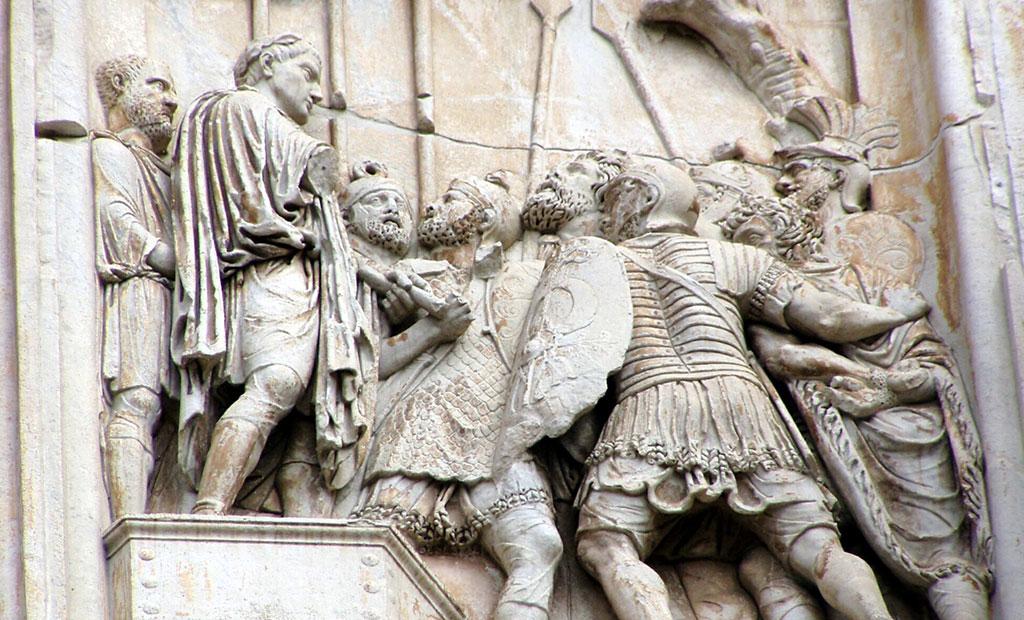نقش برجسته مربوط به زمان امپراتور مارکوس آورلیوس