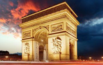طاق نصرت پاریس (طاق نصرت لِتوال) دروازه پیروزی پاریس
