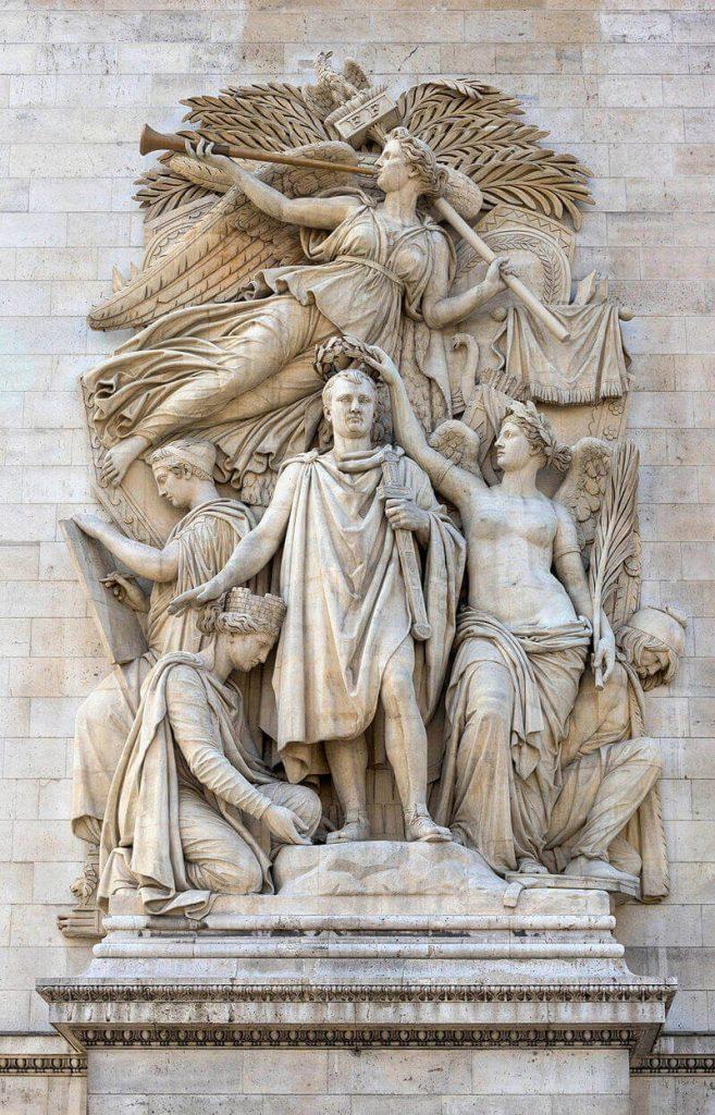 مجسمه تاجگذاری ناپلئون توسط ویکتوریا الهه بالدار پیروزی، طاق نصرت پاریس