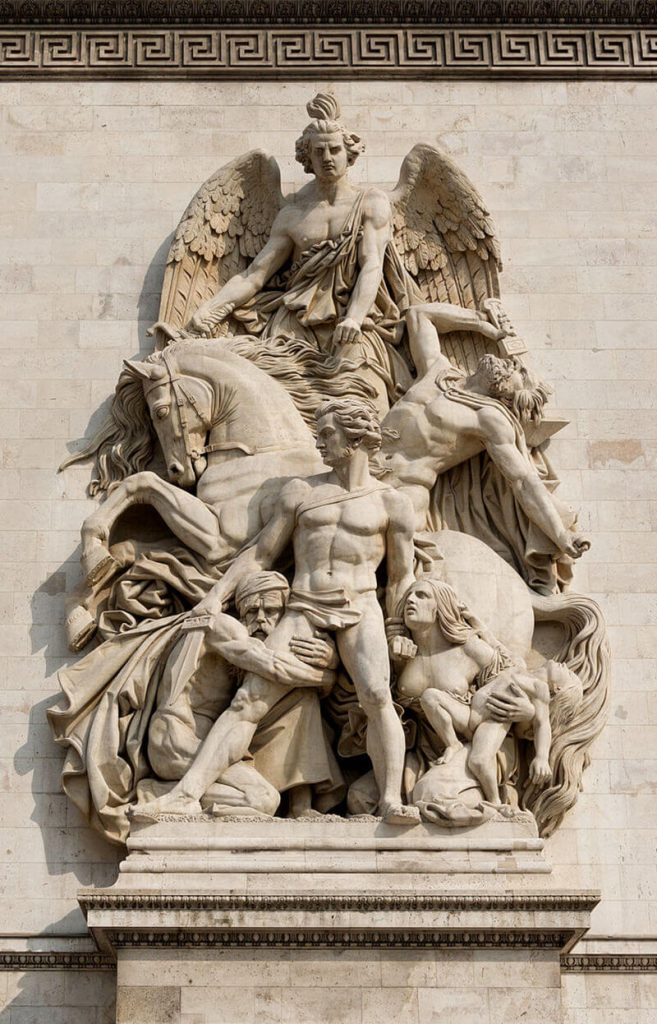مجمسه مقاومت 1814، طاق نصرت پاریس