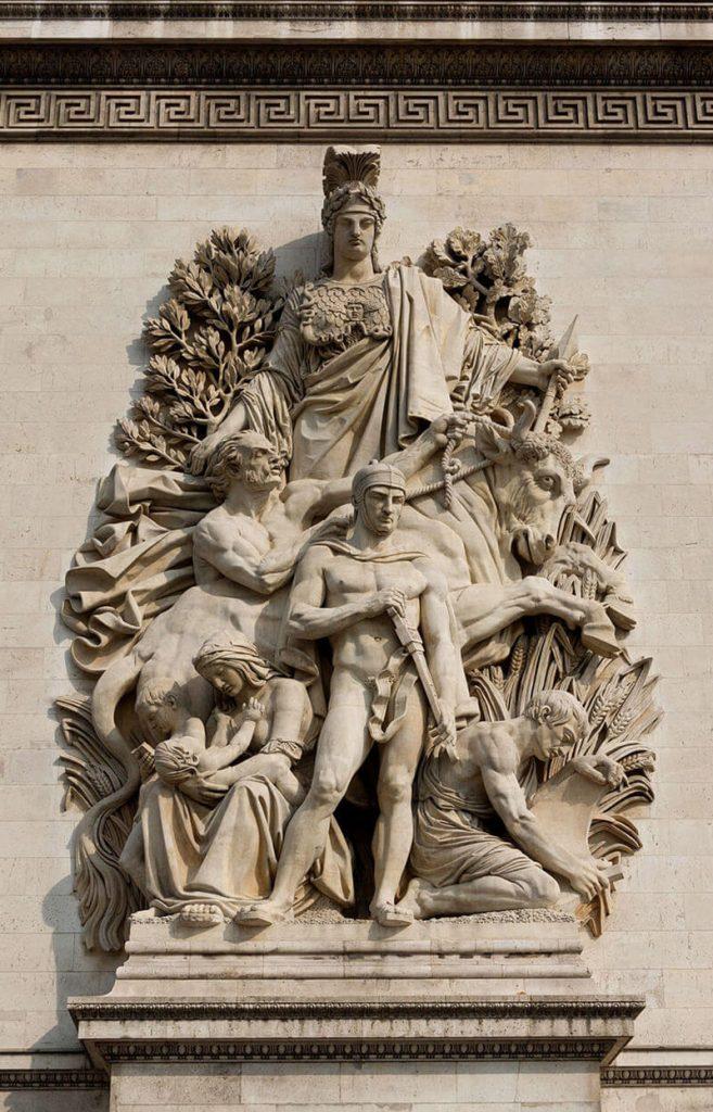 مجمسه صلح 1815، طاق نصرت پاریس