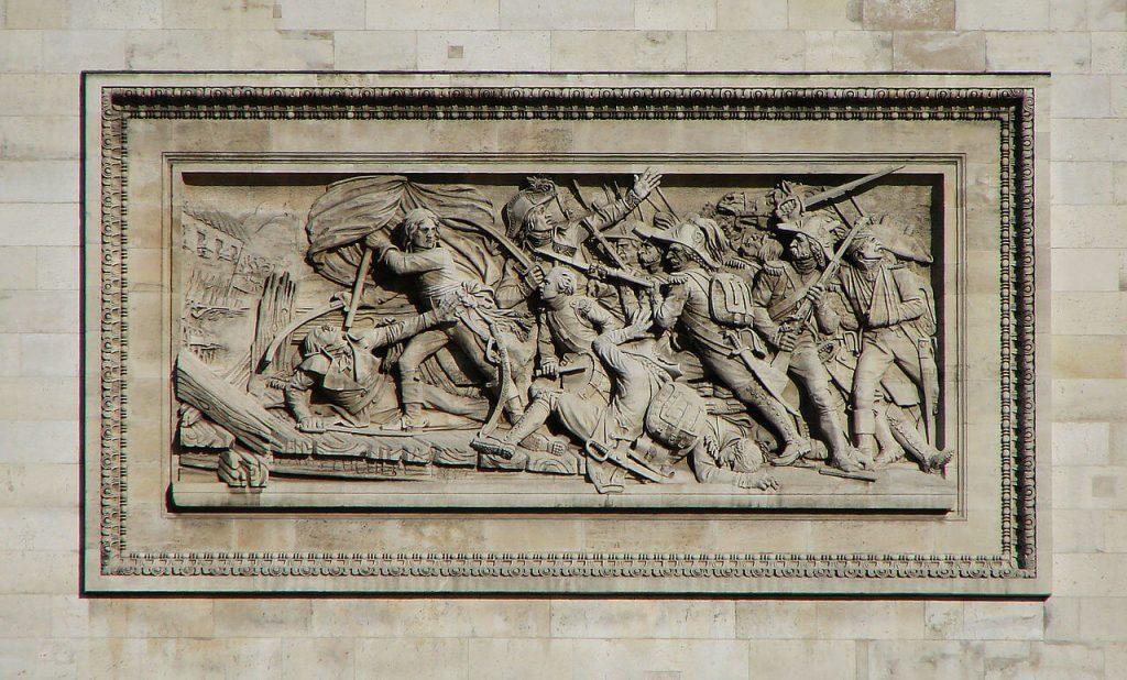 نقش برجسته نمای بیرونی طاق نصرت پاریس، جنگ Le passage du pont d'Arcole، 15 نوامبر 1796