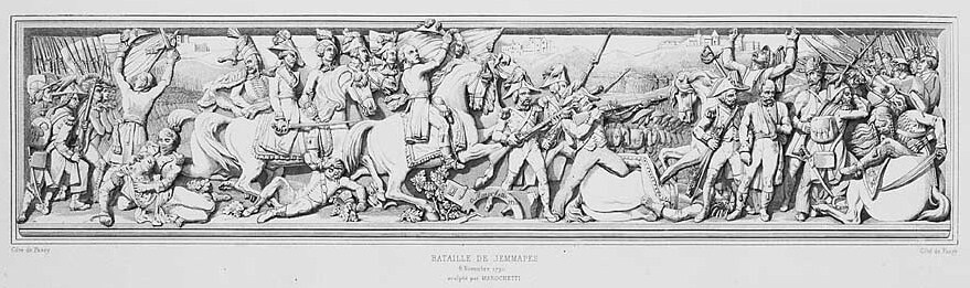 نقش برجسته نمای بیرونی طاق نصرت پاریس، جنگ Jemmappes، 6 نوامبر 1792