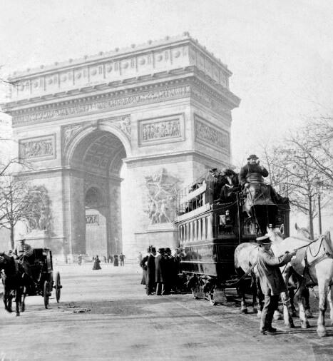 عکس قدیمی 130 ساله از طاق نصرت پاریس، سال 1898