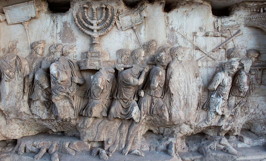 نقوش برجسته غارت اورشلیم و معبد سلیمان در طاق نصرت تیتوس