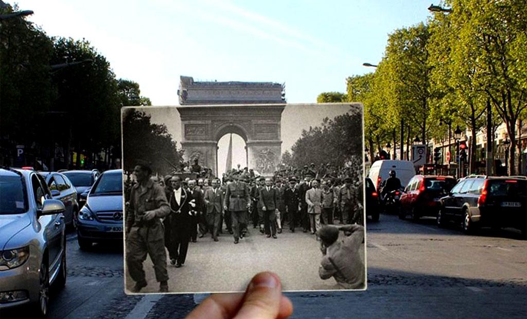 رژه ژنرال شارل دو گل پس از آزادسازی پاریس