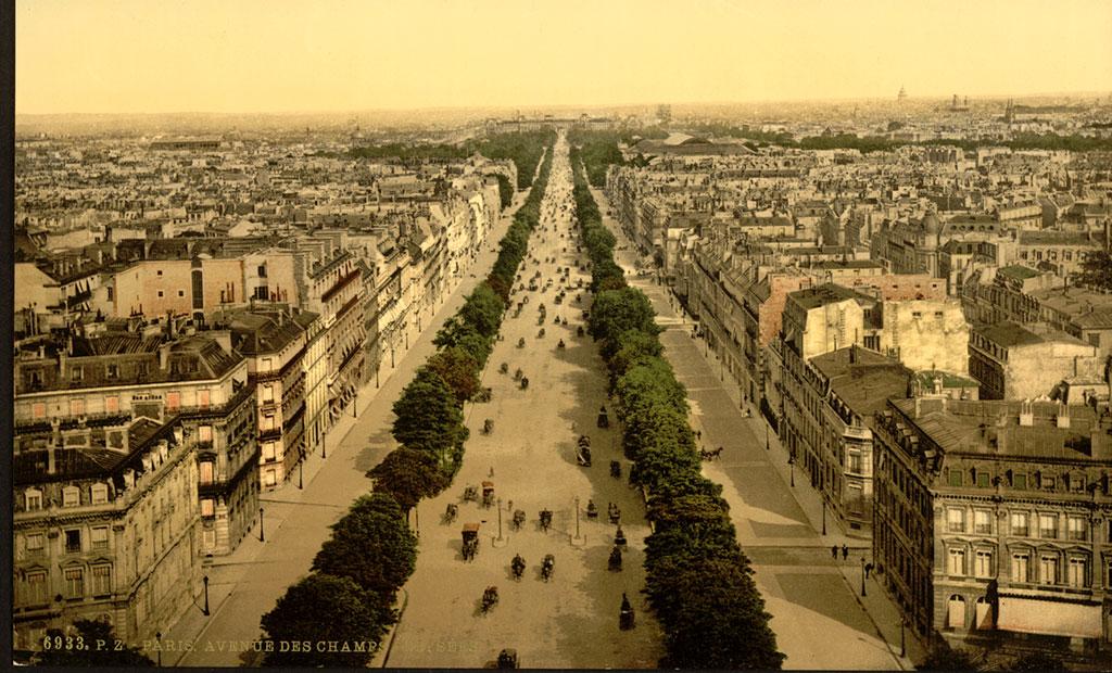 عکس قدیمی از خیابان شانزلیزه پاریس