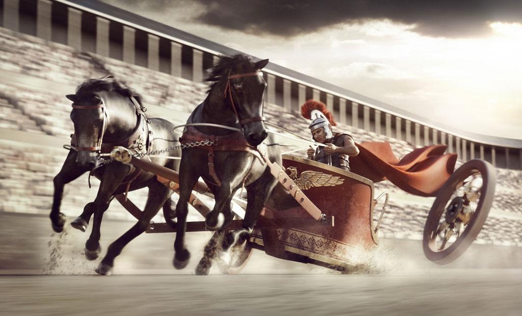 مسابقات ارابه رانی یکی از محبوب ترین مسابقات در روم باستان
