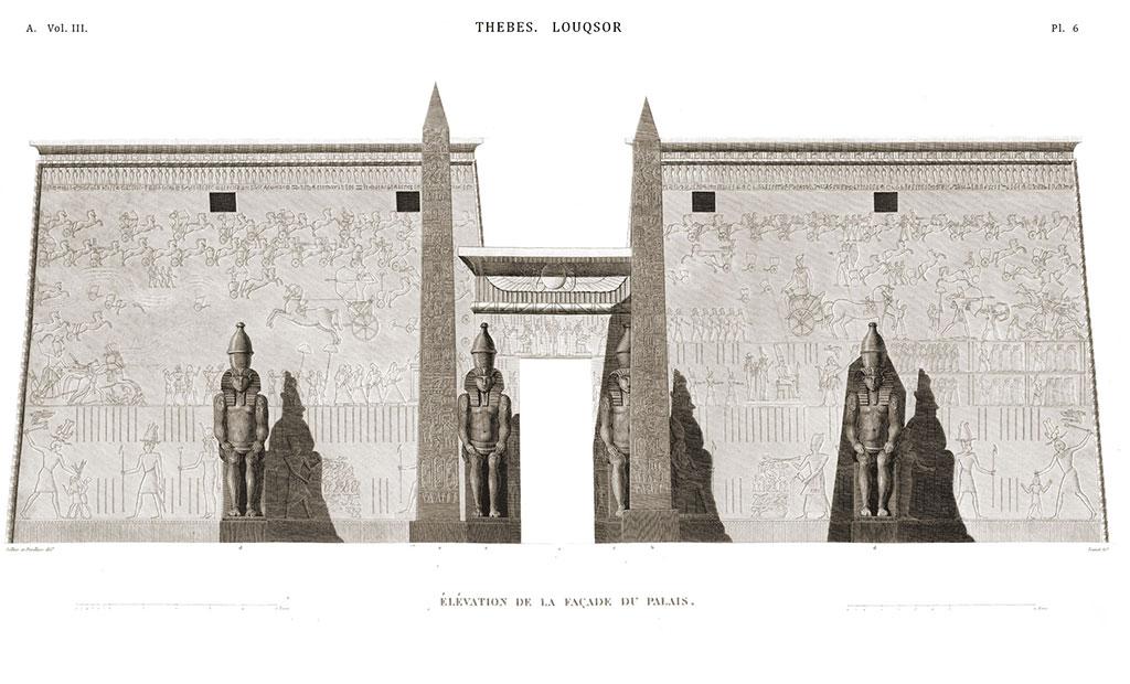 شبیه سازی معبد لوکسور مصر و دو ابلیسک آن