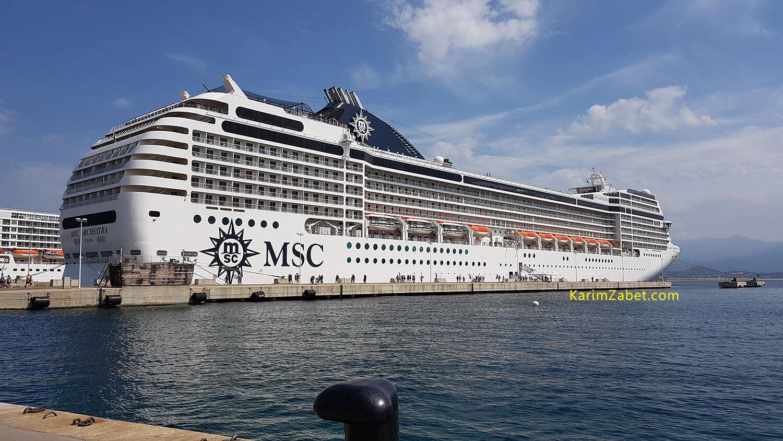 کشتی کروز MSC Orchestra در بندر آژاکسیو