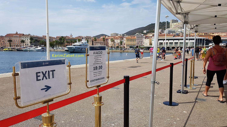 اعلام زمان بسته شدن درها و حرکت کشتی در زمان خروج مسافران