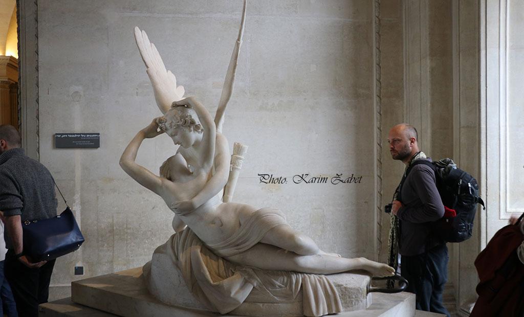 مجسمه پسوخه و کوپید در موزه لوور