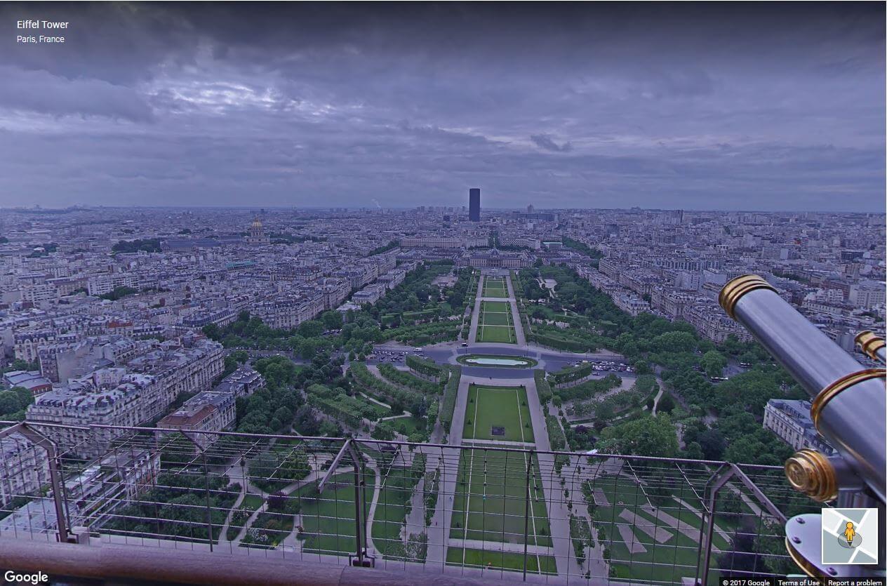 بازدید مجازی از بالای برج ایفل توسط تکنولوژی گوگل استریت