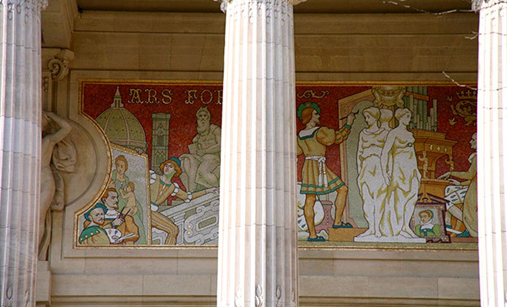 موزاییک کاری زیبا در گراند پله پاریس