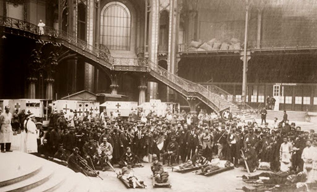 مجروحان جنگ جهانی اول در گراند پله پاریس