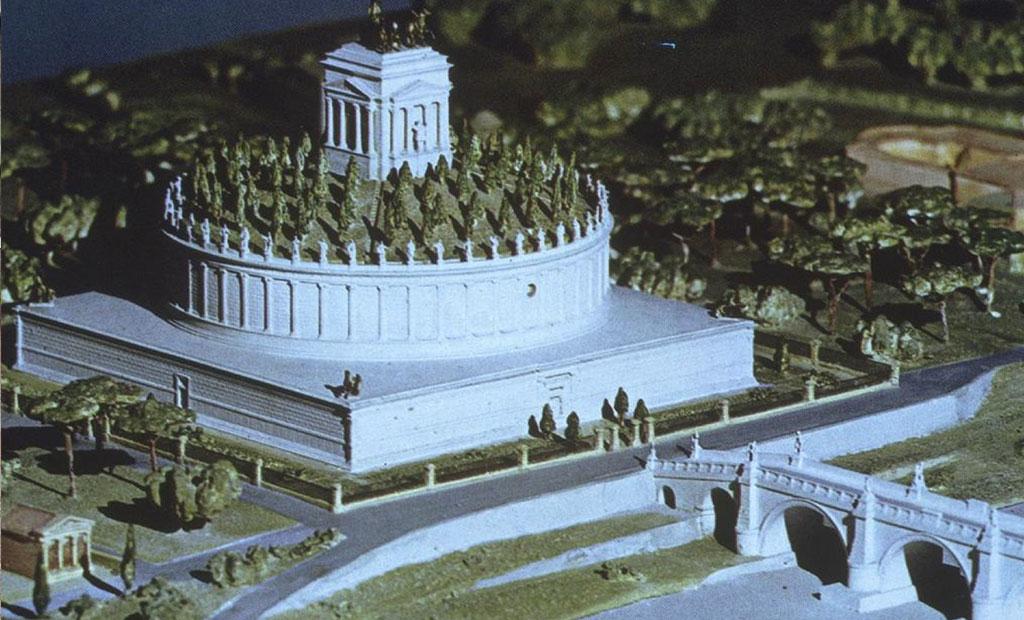 ماکت مقبره امپراتور هادریان در مکان فعلی قلعه سنت آنجلو