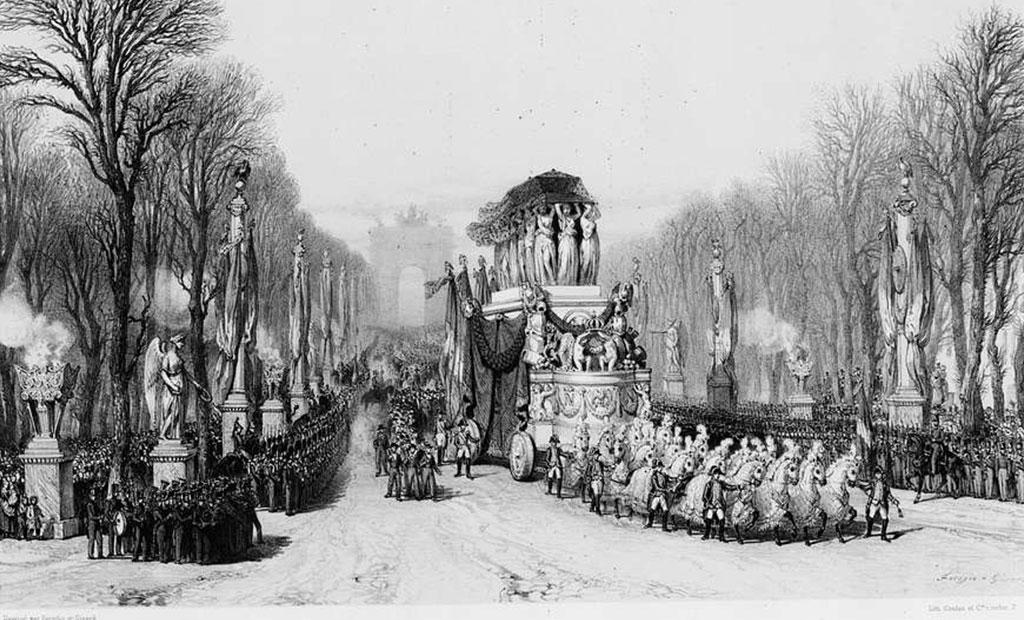 مراسم تشییع جنازه امپراتور ناپلئون اول