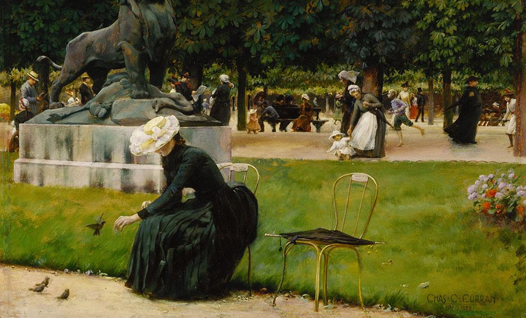 نقاشی - باغ لوگزامبورگ پاریس