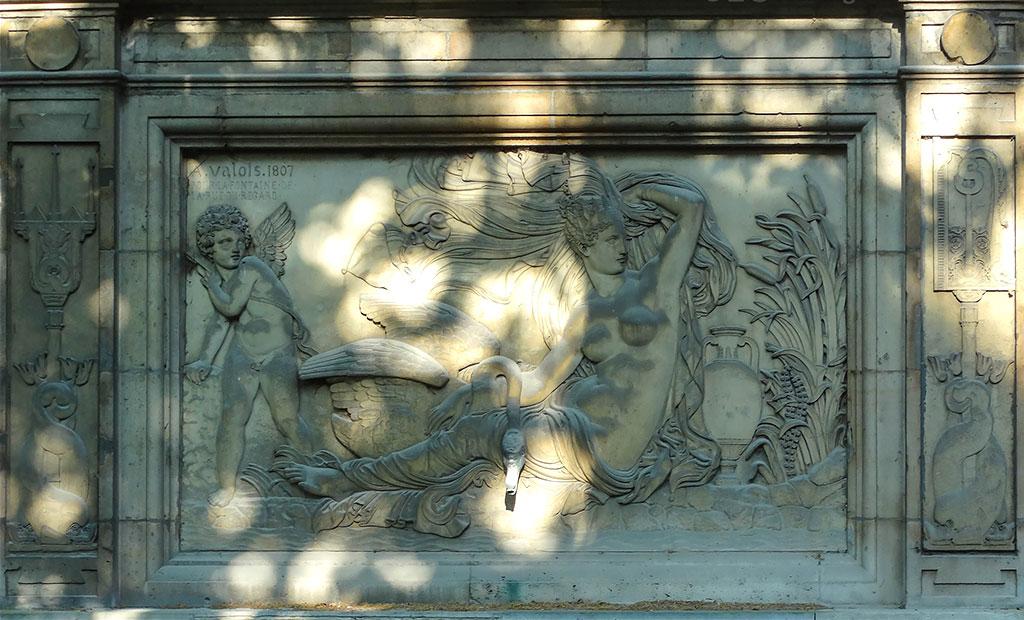 نقش برجسته افسانه یونانی لدا و قو