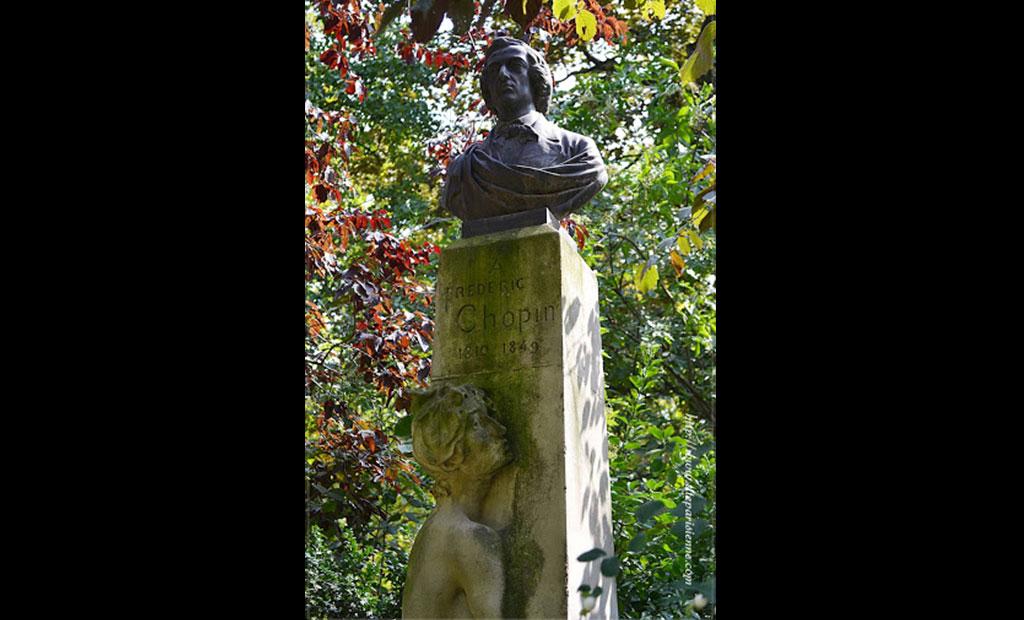 تندیس شوپن آهنگساز لهستانی در باغ لوگزامبورگ پاریس