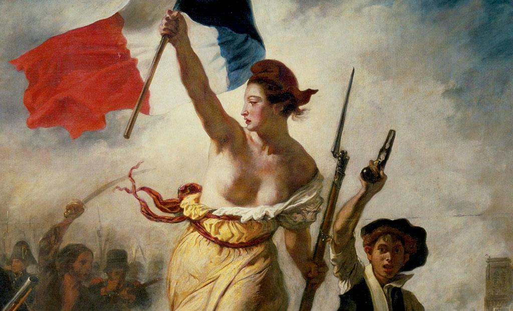 ماریان پرچم سه رنگ فرانسه را بالا نگه داشته است