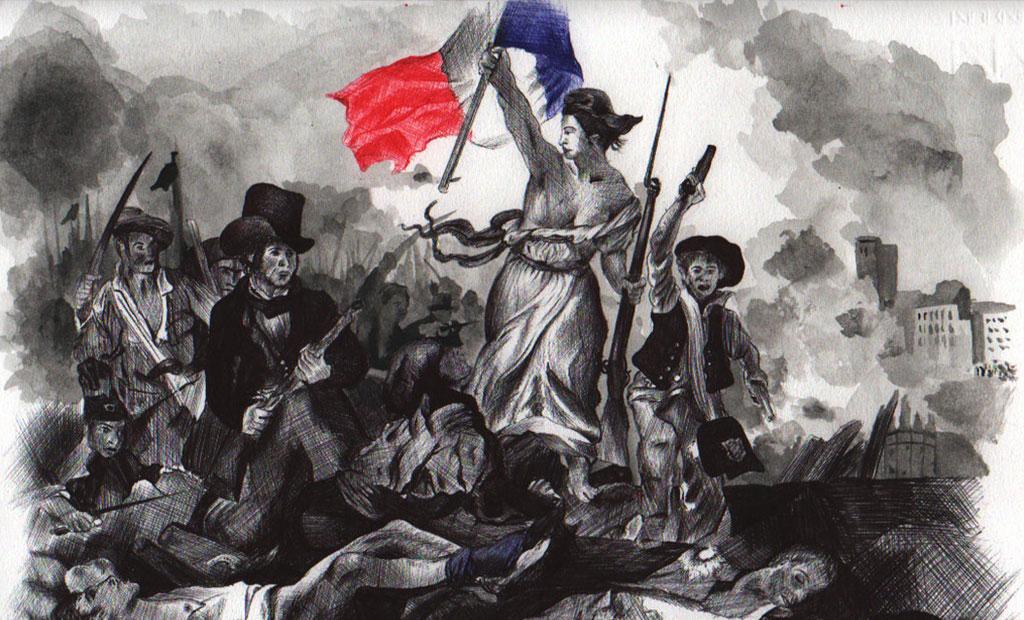 نقاشی آزادی هدایتگر مردم