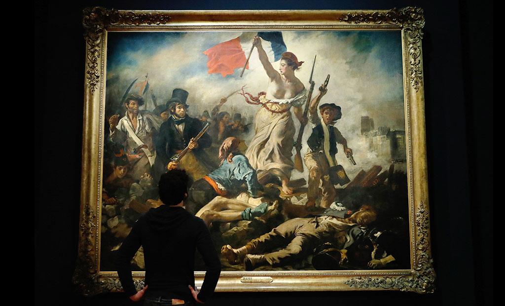 نقاشی آزادی هدایتگر مردم در موزه لوور