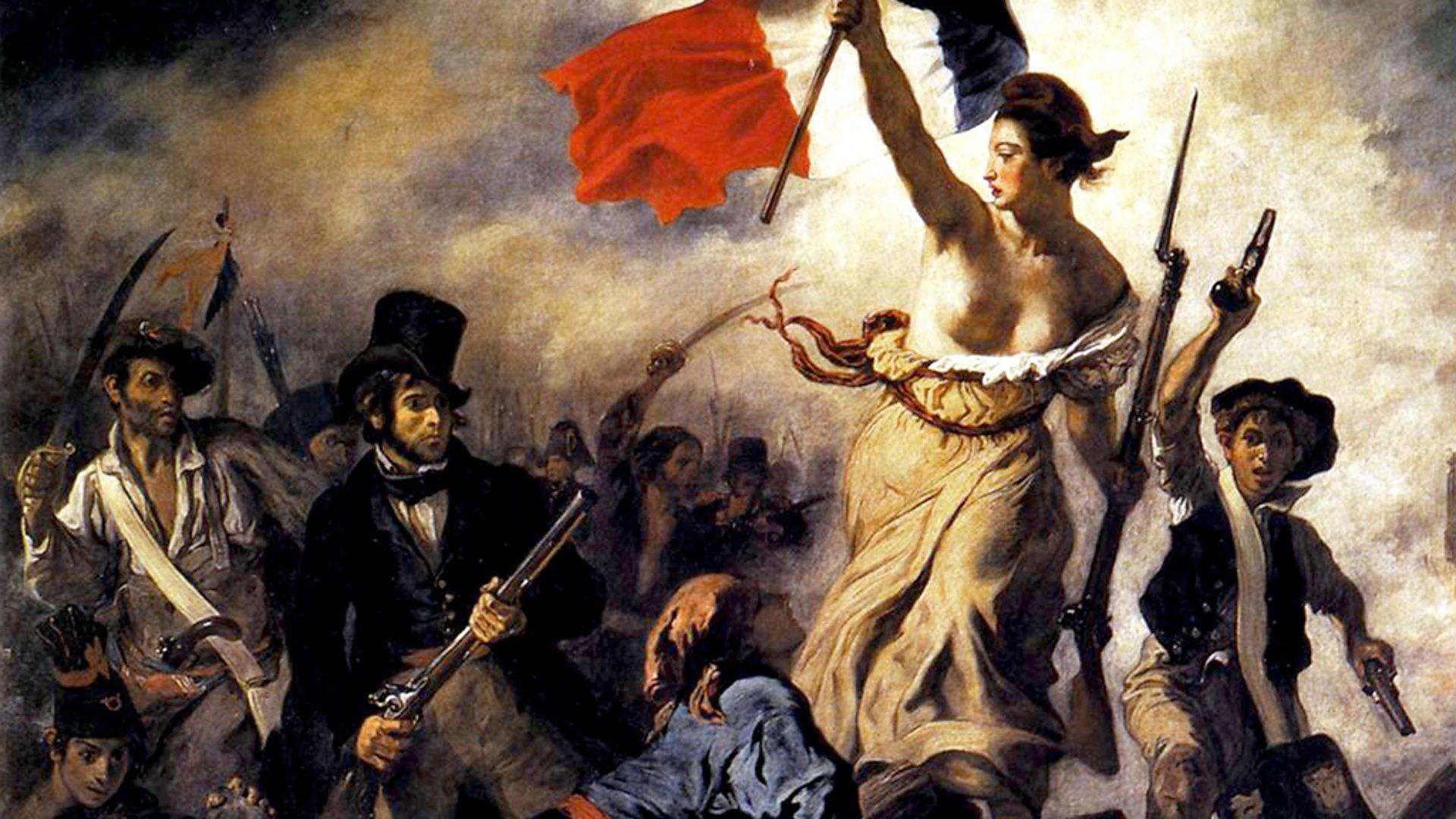 نقاشی آزادی هدایتگر مردم در موزه لوور پاریس