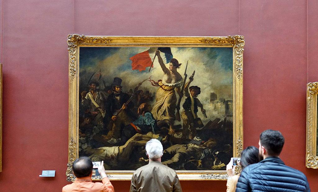 تابلوی نقاشی آزادی هدایتگر مردم در موزه لوور