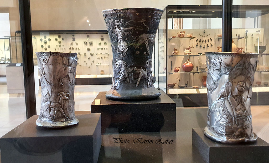 ظروف عتیقه ایرانی در موزه لوور پاریس