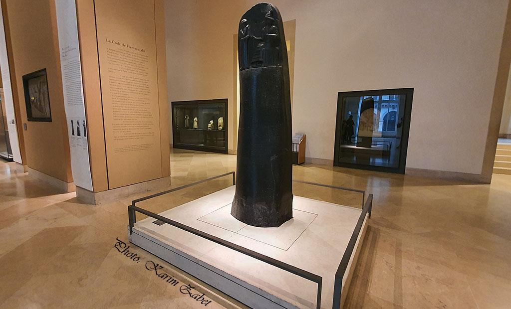 استل قانون حمورابی - موزه لوور پاریس