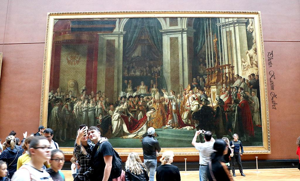 نقاشی بزرگ تاجگذاری ناپلئون در لوور