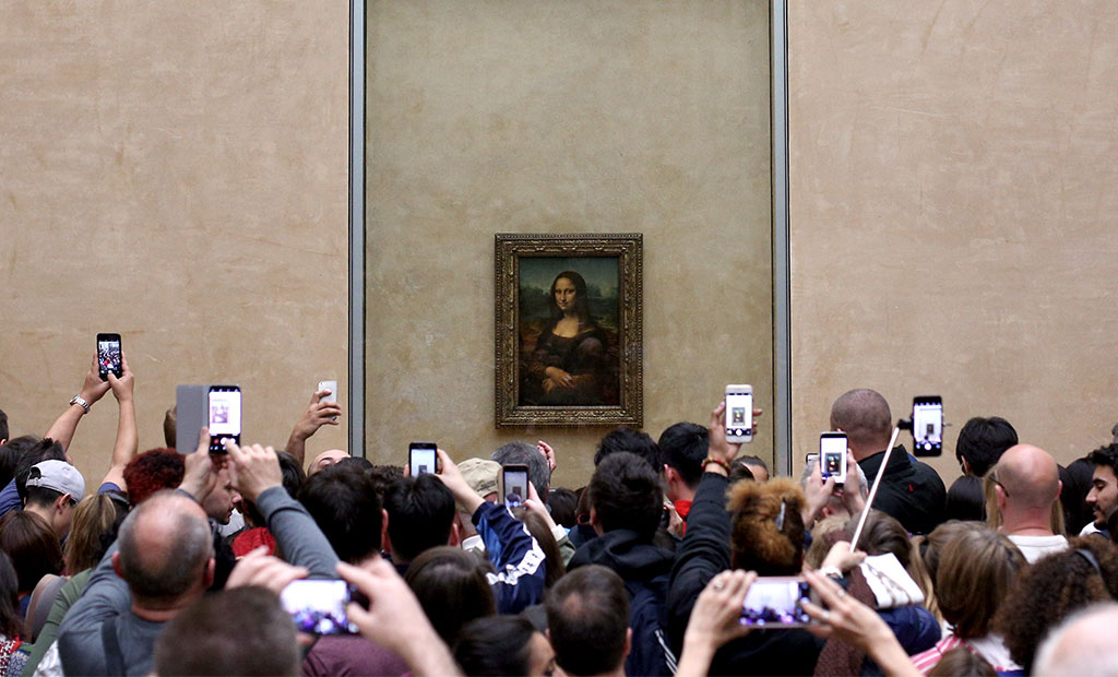 تابلوی نقاشی مونالیزا در موزه لوور