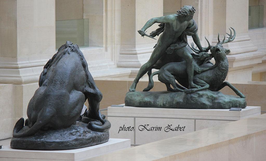 مجسمه های فرانسوی موزه لوور