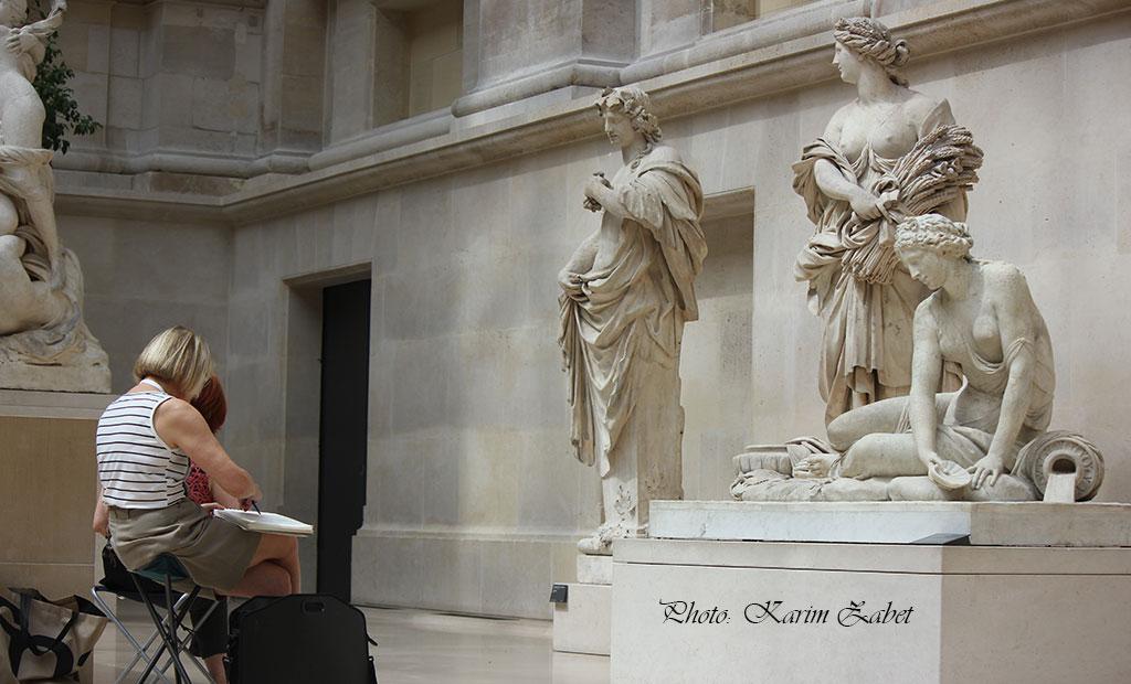 مجسمه های فرانسوی در موزه لوور