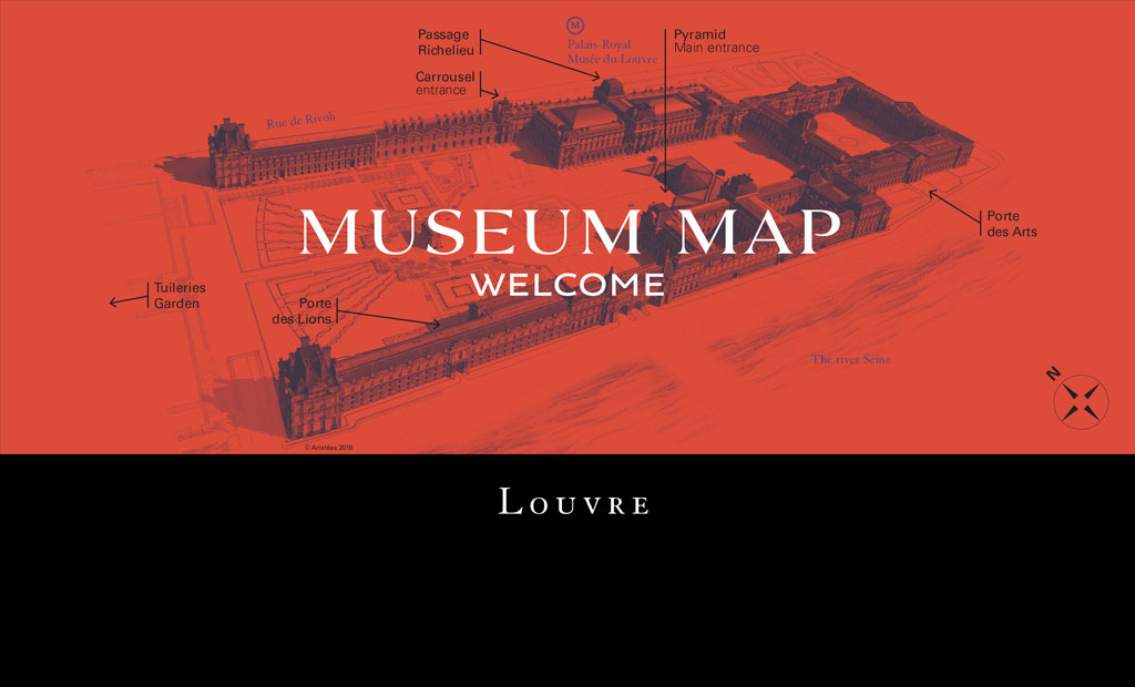 نقشه موزه لوور