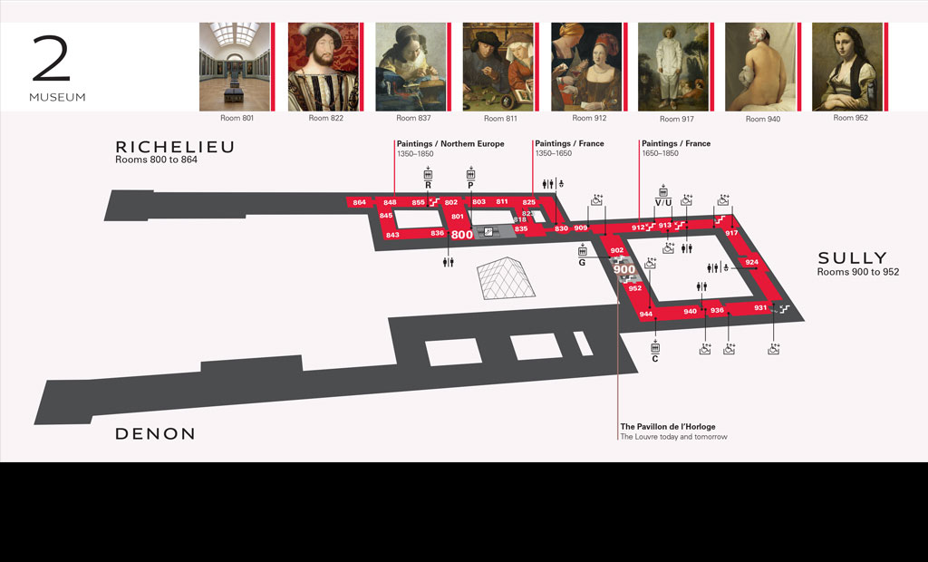 نقشه طبقه دوم موزه لوور