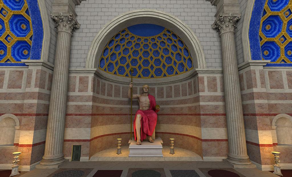 مجسمه بزرگ امپراتور کنستانتین که در انتهای باسیلیکای ماکسنتیوس قرار داشته است