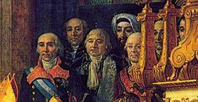 سفیران کشورهای مختلف شاهد مراسم تاجگذاری ناپلئون